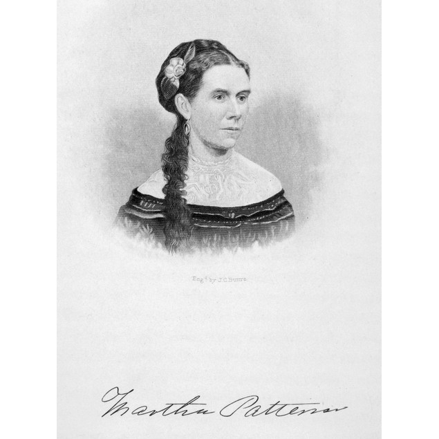 Martha Patterson /N(1838-1901). Daughter Of President Andrew Johnson. Steel