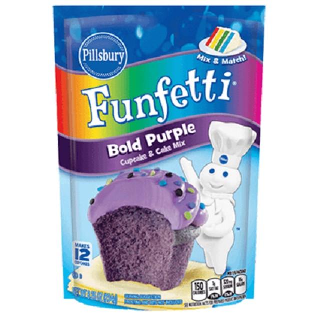 Pillsbury Funfetti Bold Purple Cupcake & Cake Mix