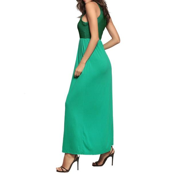 Women's Stripe Top Maxi Dress