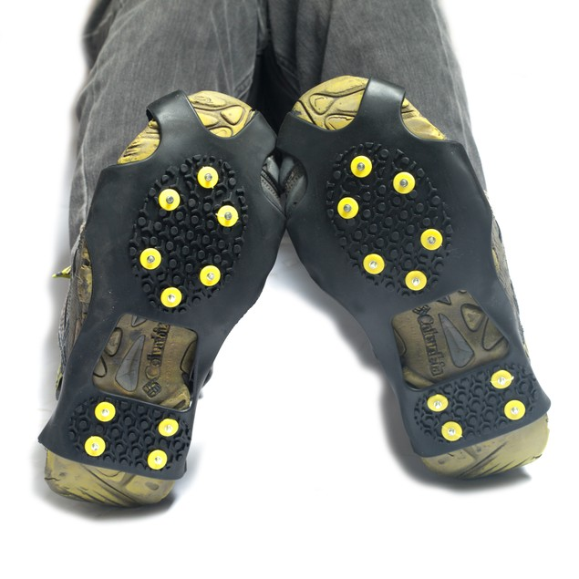 Instant Traction Cleats: Works with Boots & Cleats on Ice or Snow