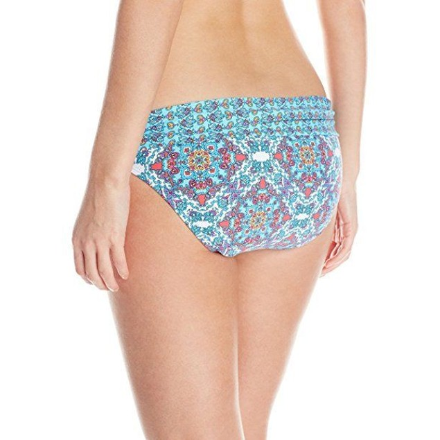 ATHENA Women's Coastal Border Banded Bikini Bottom, Multi, SIZE 6