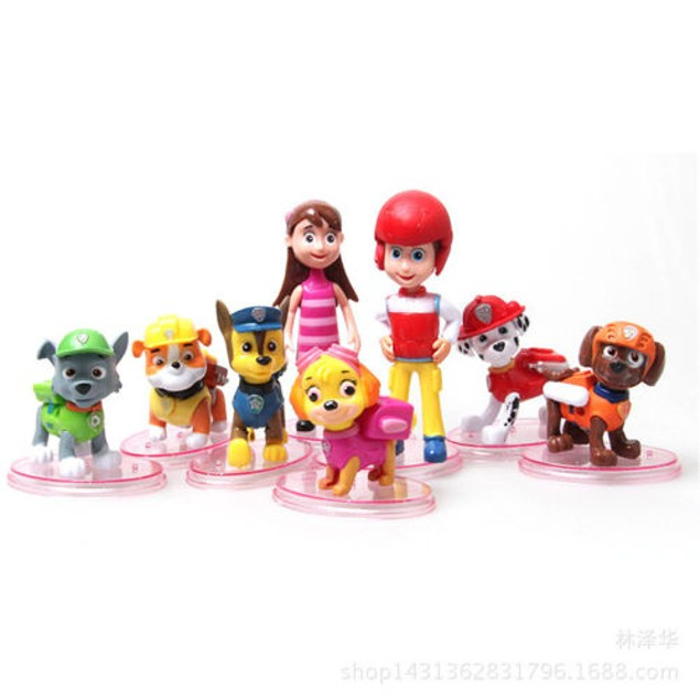 8 Pcs Paw Patrol Dog Puppy Rescue Character Toys Figure