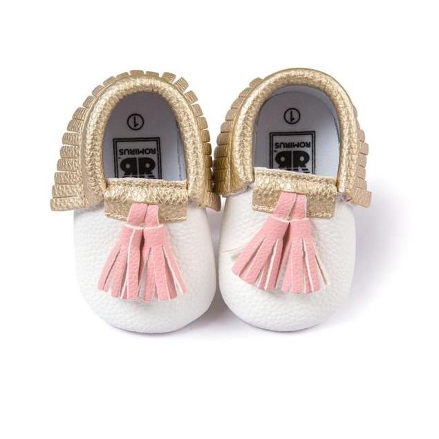 Infant Toddler Baby Boy Girl Tassel Soft Sole Prewalker Shoes Shoes