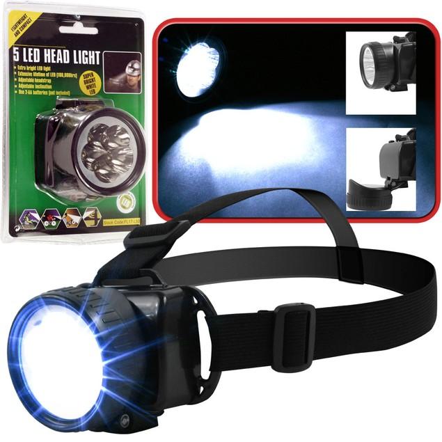 Stalwart 5 LED Headlamp w / Adjustable Strap