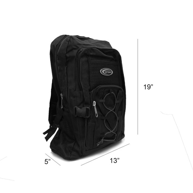 """19"""" Multi Purpose School Book Bag / Travel Carry-On Backpack"""
