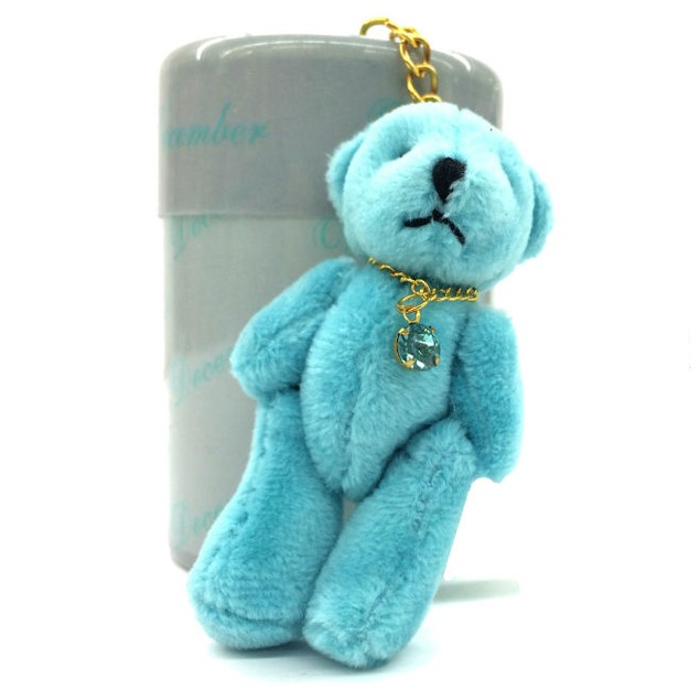 Keychain Plush Stuffed Teddy Bear with Birthstone