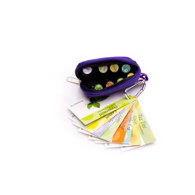 Travel Keychain Case with 8 Essential oils