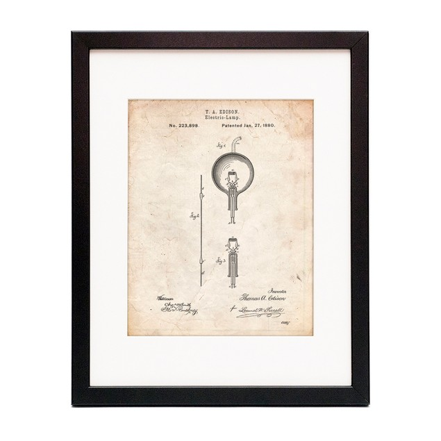 Thomas Edison Light Bulb Poster
