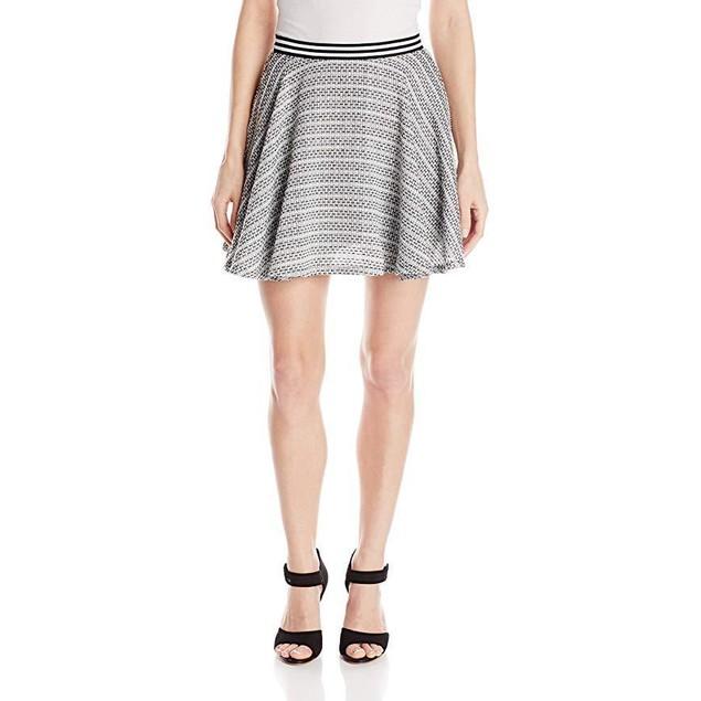 BCBGeneration Women's Circle Skirt, Black/Multi, 0