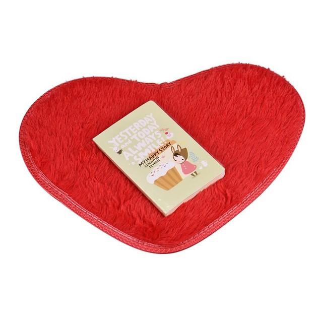 40x28cm Heart-Shape Non-Slip Bath Mat - Assorted Colors