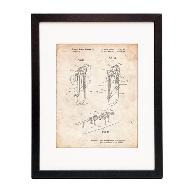 Rock Climbing Camalot Patent Poster