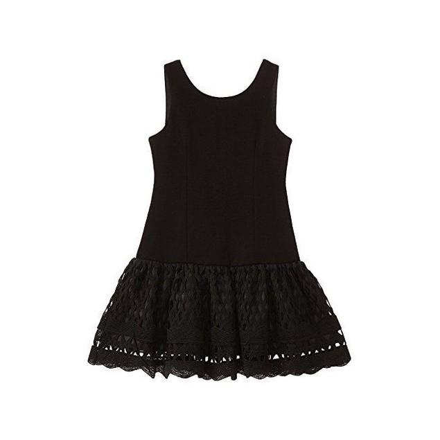 Nanette Lepore Kids Girl's Ponte Novelty Lace Dress Sz L