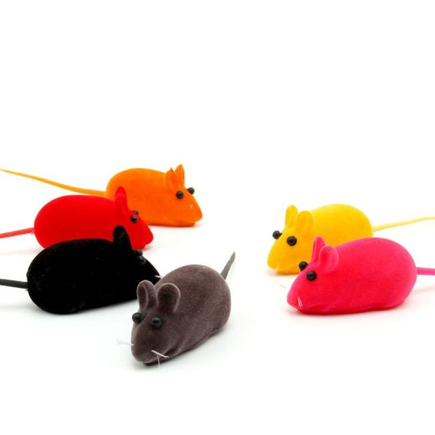 3 pcs Fun Toy Little Mouse Realistic Sound Toys For Cats For Pet Cat