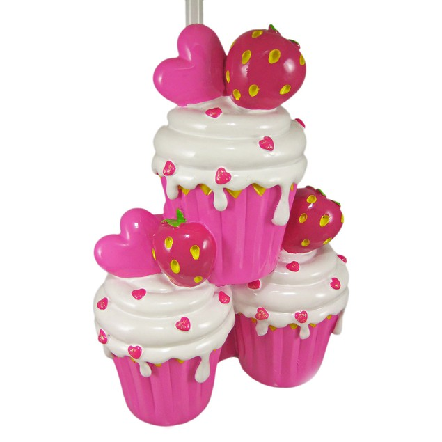 Adorable Hot Pink Strawberry Cupcake Table Lamp Childrens Lamps