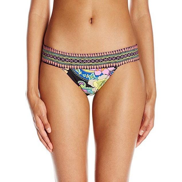 Trina Turk Women's Monaco Banded Brazillian Hipster Bikini Bottom SZ: