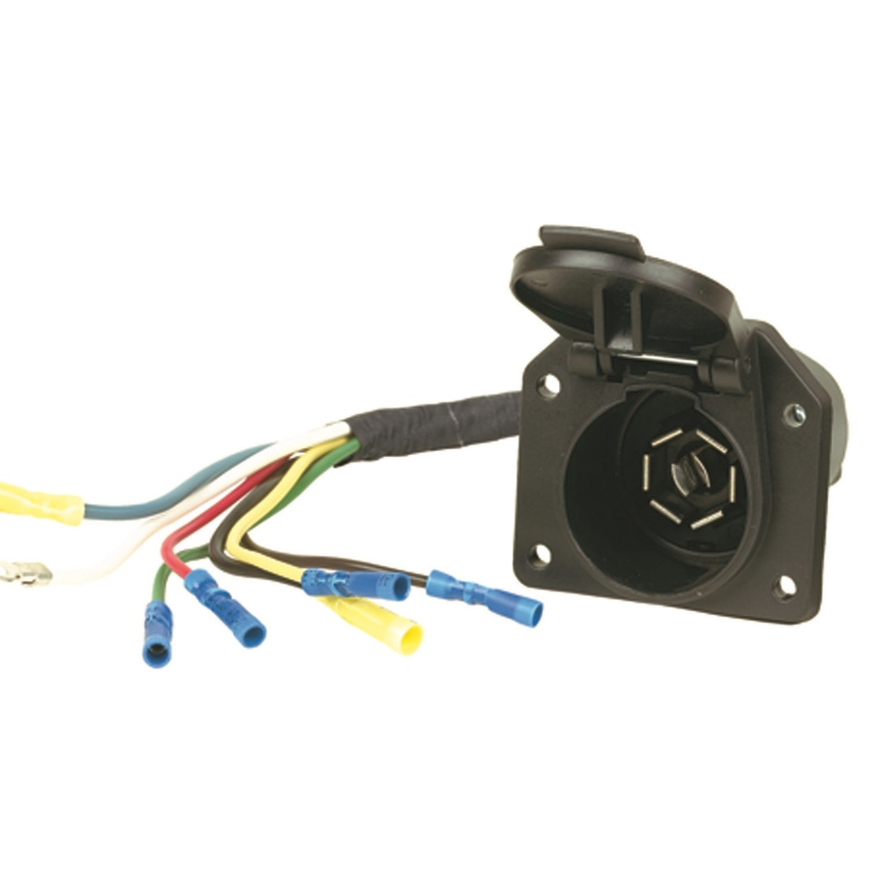Hopkins Towing Solution 41145 7 Blade Vehicle To Trailer ... on trailer plugs, trailer brakes, trailer generator, trailer fuses, trailer hitch harness, trailer mounting brackets,