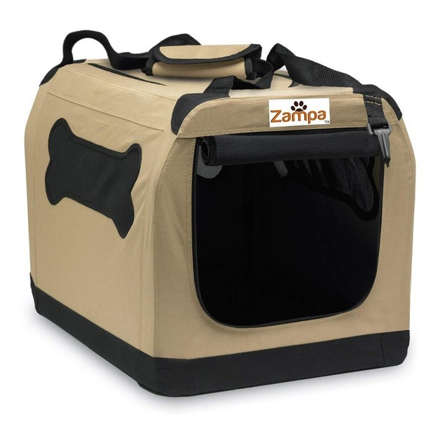 Zampa Pet Portable Crate for Dogs Cats and Puppies with A Carrying Case