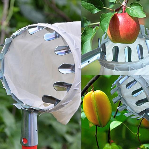 Garden Fruit Picker Head Cloth Bag Apple Pear Peach Picking Catcher Tool