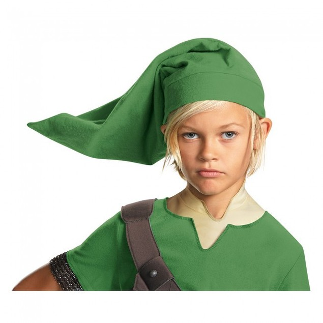 Link Child Kit Legend Of Zelda Licensed Boys Costume Hat Vinyl Ears Green