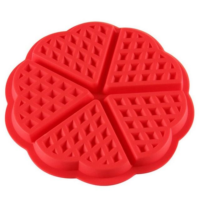 Kitchen Silicone Mini Round Waffles Pan Cake Baking Mould Mold Waffle Tray