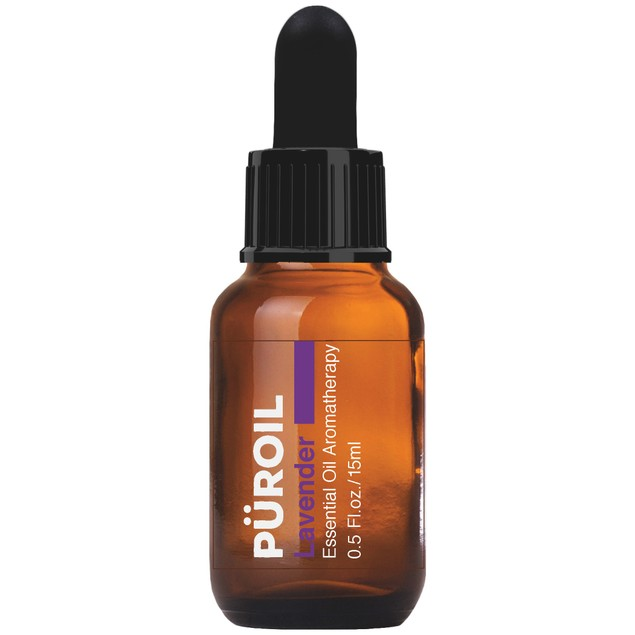 Puroil Lavender Essential Oil Aromatherapy, Dropper Bottle, 0.5 Fluid