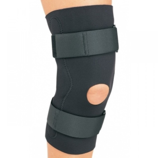 Procare Hinged Knee Support Open Popliteal, Dual Axis Hinges, Small, Black