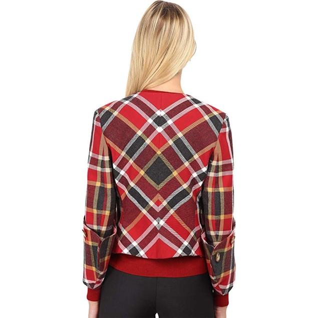 Vivienne Westwood Women's Washed Tartan New DL Jacket Red Tartan 40 (U