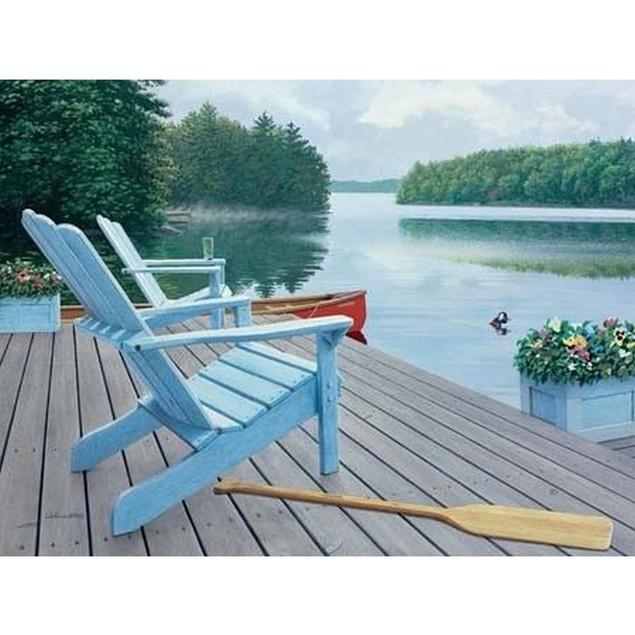 Lakeside Retreat 500 Piece Puzzle, 500 Piece Puzzle by Lang Companies