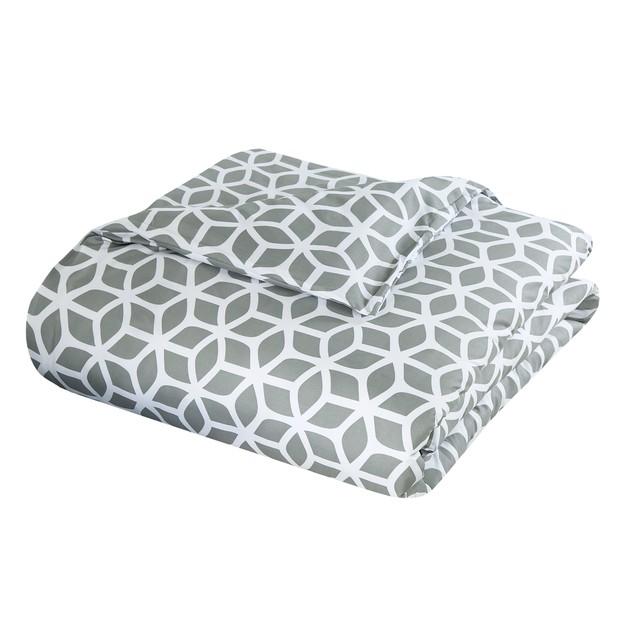 Chic Home 2/3 Pc. Callista Diamond Printed reversible Duvet Cover Set