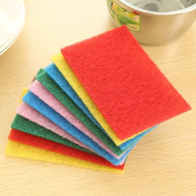 10X Sponge Eraser Cleaning Towel Wash Cloth Kitchen Dish Foam Pads Cleaner