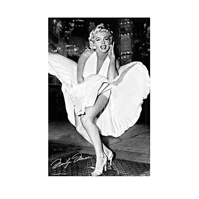 "Marilyn Monroe Dress Poster 24"" x 36"" Pinup Model Vintyage New York Sexy"