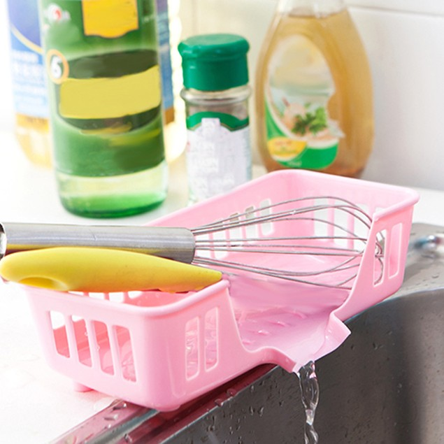 Cutlery Sponge Drainer Kitchen Sink Drying Rack Organizer