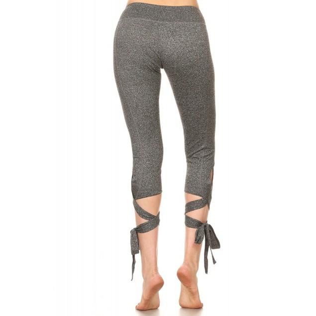 0c11f471cd1 ... 2-Pack Woman s Cross Tie Cuff Slim Yoga Pants Capri Activewear Legging  ...