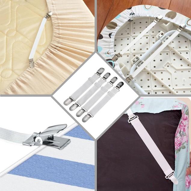 Adjustable Bed Sheet Fastener, Heavy Duty Bed Sheet Suspenders Holder