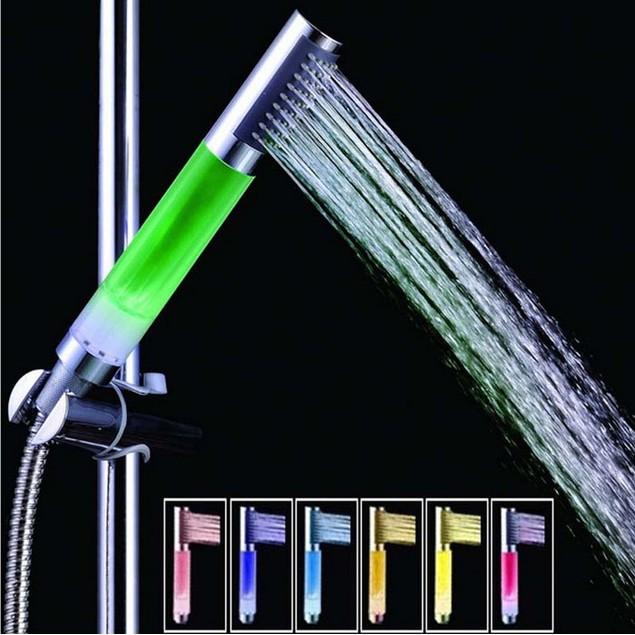 4 LED Light 7 Colors Bathroom Shower Head