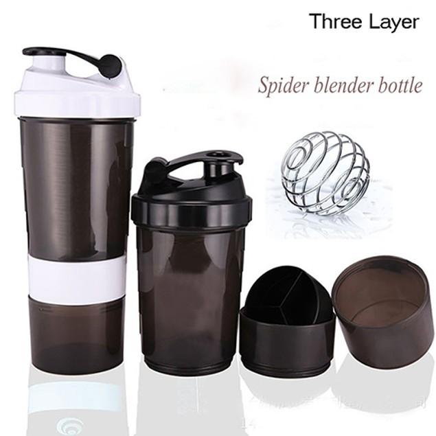 Gym Body Building Water Bottle Protein Powder Mixer Shaker