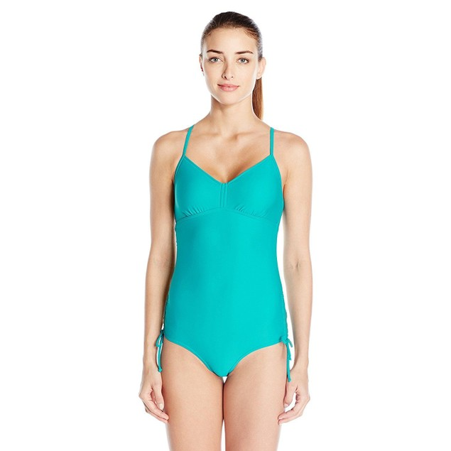 prAna Women's Moorea One Piece Swimsuit, Dragonfly, SZ: SMALL