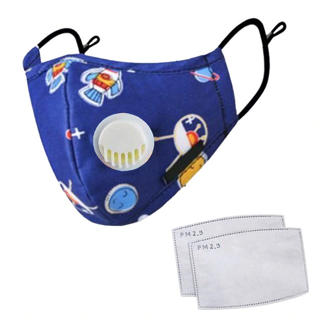 Kids Face Mask With Air Valves + 2 Filters