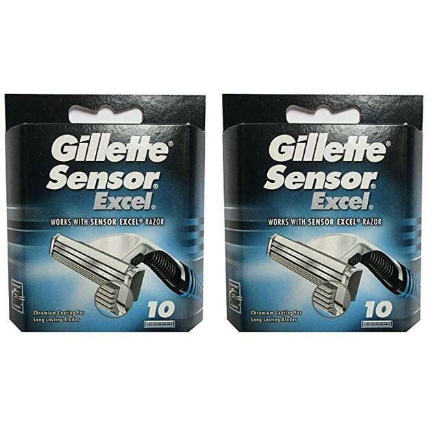 20-Count Gillette Sensor Excel Razor Refill Cartridges