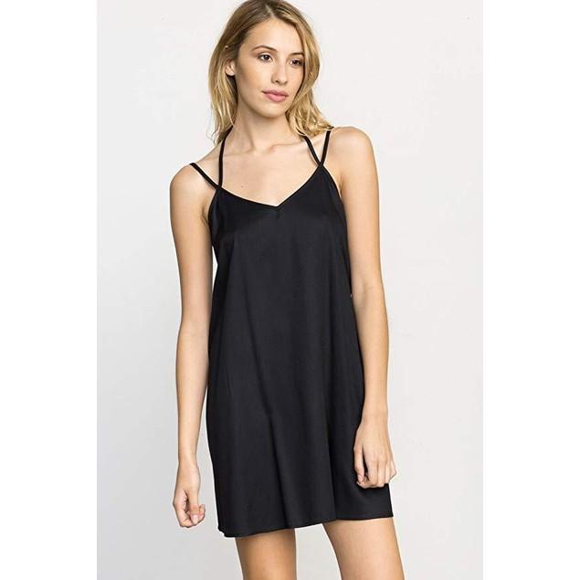 RVCA Women's Drop Stop Swing Tank Dress Black Sz X-Small