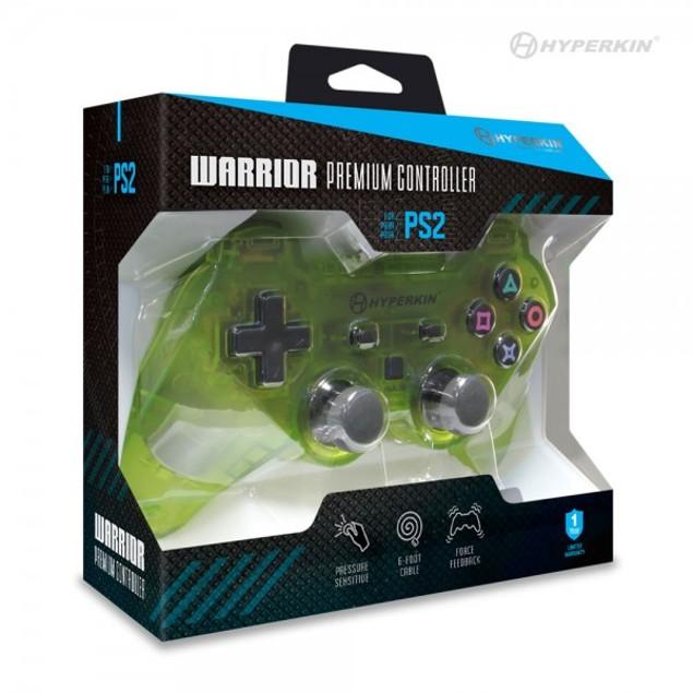 "PS2 ""Warrior"" Premium Controller (Clear Yellow) - Hyperkin"