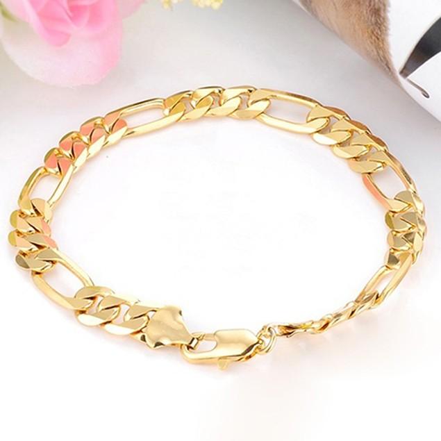 Wide Flat Chain Bracelet