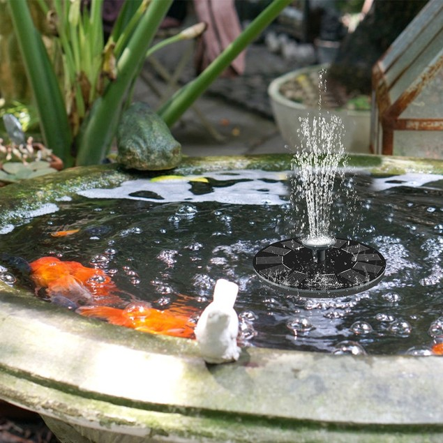 Solar Water Fountain With Assorted 6 Nozzles