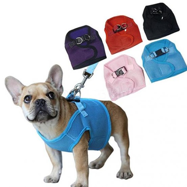 Puppy Soft Mesh Walking Strap Vest Harness