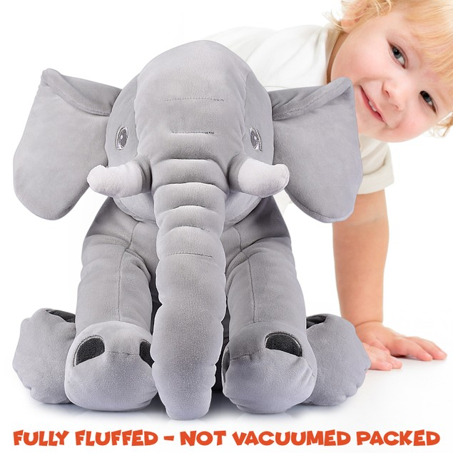 "Giant 24"" Stuffed Elephant - Cute Soft Plush Cuddly Fluffy -Great Gift Idea"