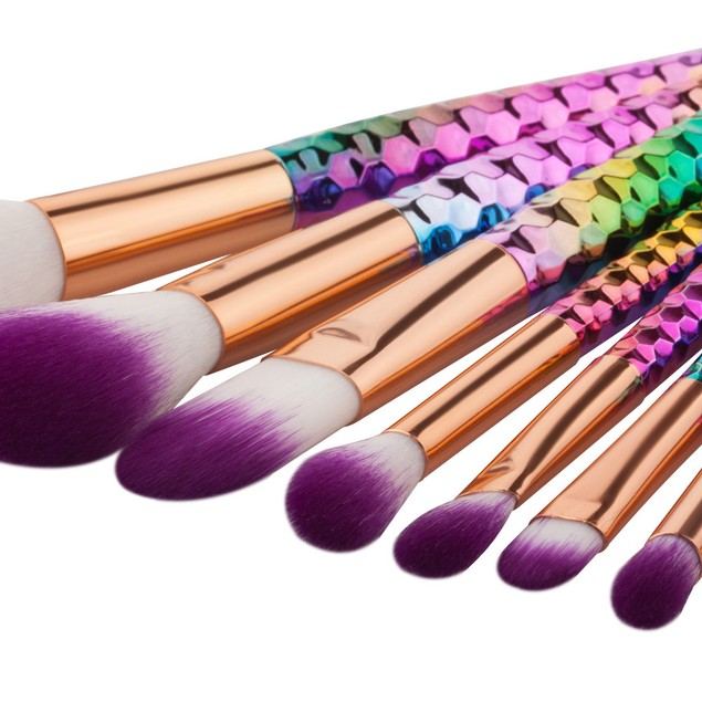 8PCS  Make Up Foundation Eyebrow Eyeliner Blush Cosmetic Concealer Brushes