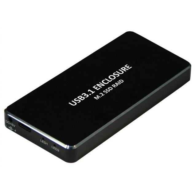 USB 3.1 Type-C To Dual NGFF (M.2) SSD Raid Enclosure