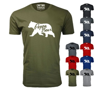 Men's Poppa Bear Silhouette Dad T-Shirts Was: $44.99 Now: $14.99.