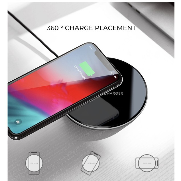 10W Fast Wireless Charging Pad For Qi-Enabled Devices & 4-Port Wall Charger