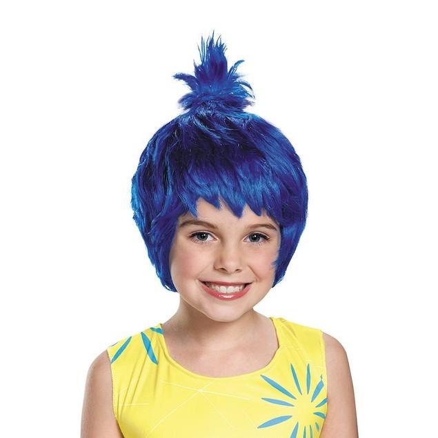 Joy Child Wig Movie Inside Out Pixar Movie Blue Pixie Cartoon Cosplay